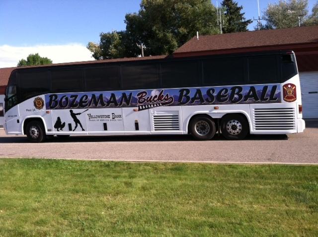 American Legion Baseball Bus