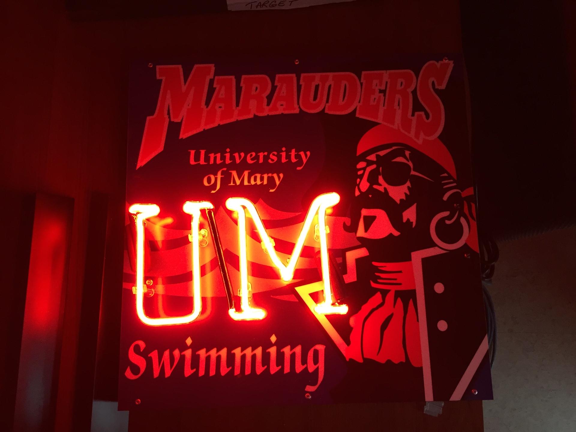 University of Mary Swim Team Neon
