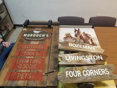 Murdoch's airport sign