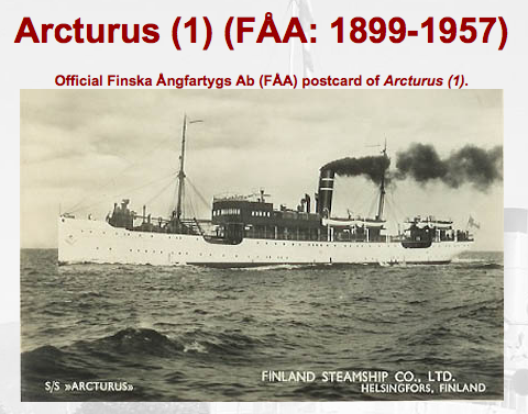 The Arcturus, the ship the family took across the Baltic Sea:BRITTA'S JOURNEY, annmariemershon.com