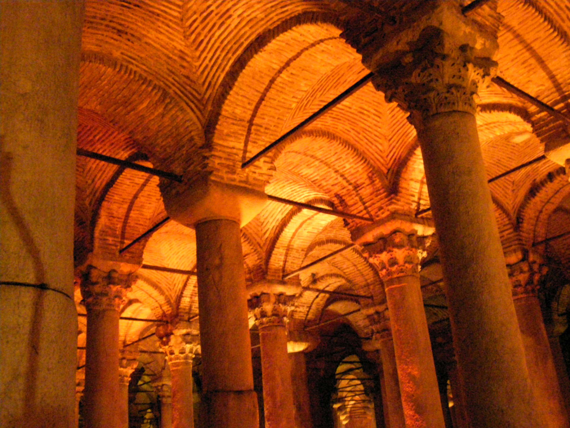The Basilica Cistern's brick domes and varied columns fascinated us. Istanbul, Turkey: annmariemershon.com