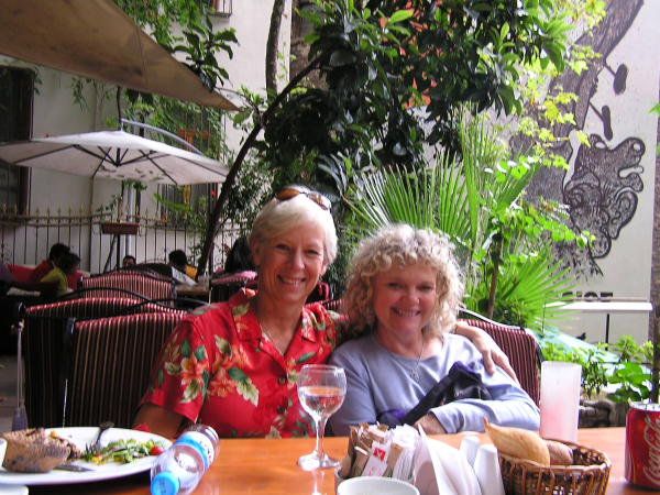 Ann Marie and Terri relax after a Sunday brunch on Heybiliada. Istanbul, Turkey: annmariemershon.com