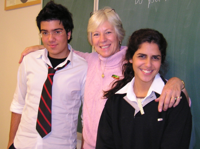 Ann Marie poses with a few of her Koç School ninth graders: Istanbul, Turkey: annmariemershon.com