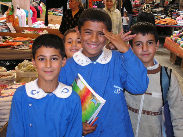 These spunky boys had come straight from school in their blue school smocks. Istanbul, Turkey: annmariemershon.com