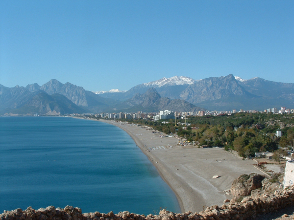 Can any beach be as stunning as this Antalya beach? Turkey: annmariemershon.com