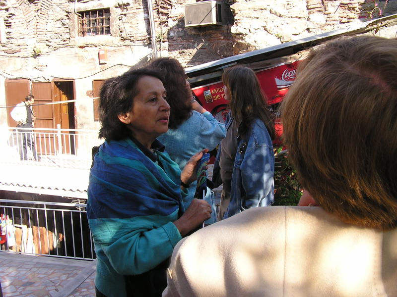 Edda Weissenbacher explains an ancient site in Istanbul. Turkey: annmariemershon.com