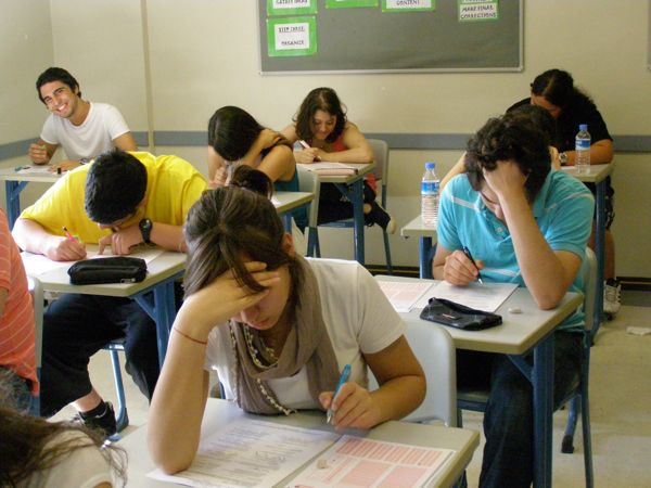 Turkish students take exams very seriously, except for the charming young man in the back corner. Istanbul, Turkey: annmariemershon.com