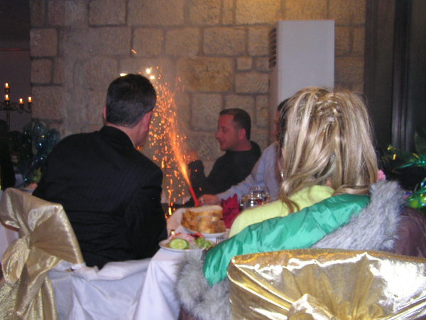 A Roman candle on the dinner table? WHAT???? Turkey: annmariemershon.com