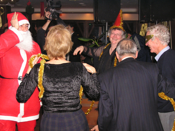 A Turkish Santa joined the dancing at Midnight. Turkey: annmariemershon.com