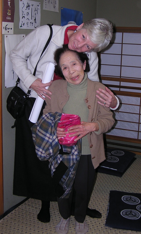 I adored Mayu's family and was charmed by her tiny grandmother. Of course, I'm tall. Japan: annmariemershon.com