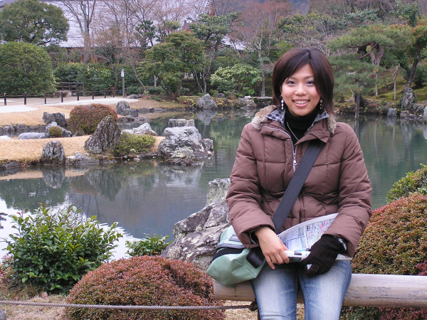 Mayu guided me on a tour of Kyoto's many fabulous shrines. Japan: annmariemershon