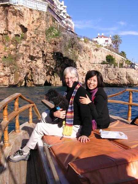 My Libby, Mayu and I took a sunny boat cruise along the sea coast. Antalya, Turkey: chapter 28, You must only to love them. http://mershon.wordpress.com