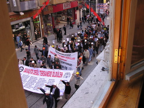 All the racket outside our window was a PKP demonstration. Istanbul, Turkey: chapter 30, You must only to love them. http://mershon.wordpress.com