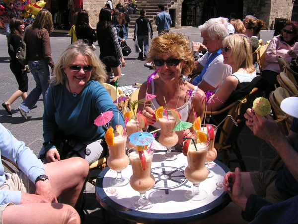 We slurped fruity parfaits as we sunned in Old Rhodos courtyard.Rhodes, Greece: chapter 33, You must only to love them. http://mershon.wordpress.com
