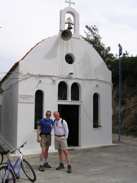We discovered this chapel on our bike up to Filermos.Rhodes, Greece: chapter 33, You must only to love them. http://mershon.wordpress.com