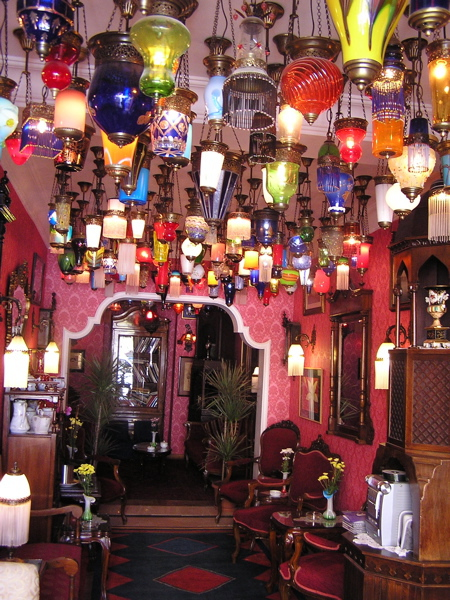 The hanging lamps in the Kybele entranced us. Istanbul, Turkey: chapter 37, You must only to love them. http://mershon.wordpress.com