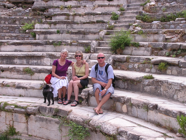 I pose with Laura and Ross at the Ephesus amphitheater. Amazing! Turkey: chapter 37, You must only to love them. http://mershon.wordpress.com