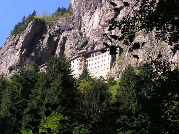 The Sumela Monastery hangs on a cliff face near Trabzon, Turkey. Trabzon, Turkey, chap 43, You must only to love them. http://mershon.wordpress.com