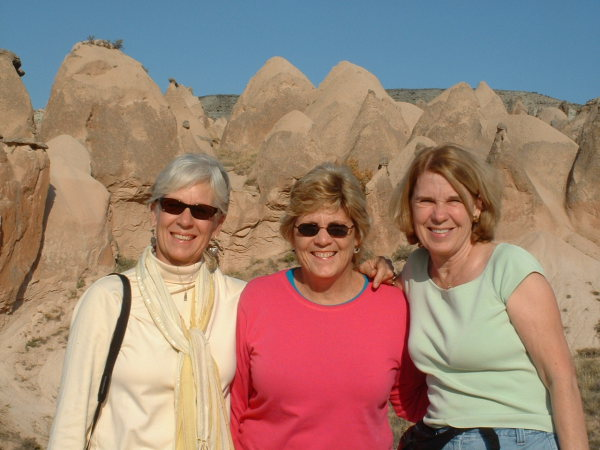 I pose with Dee and Sarah on a hike through the Rose Valley in Cappadocia. Cappadocia, Turkey, chap 44, You must only to love them. http://mershon.wordpress.com