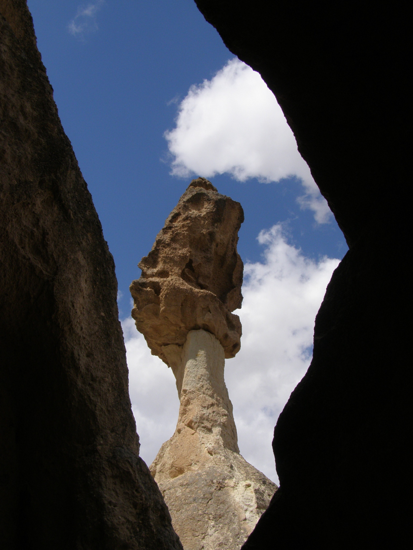 Cappadocia's oddly-shaped fairy chimneys are amazing. Cappadocia, Turkey, chap 44, You must only to love them. http://mershon.wordpress.com