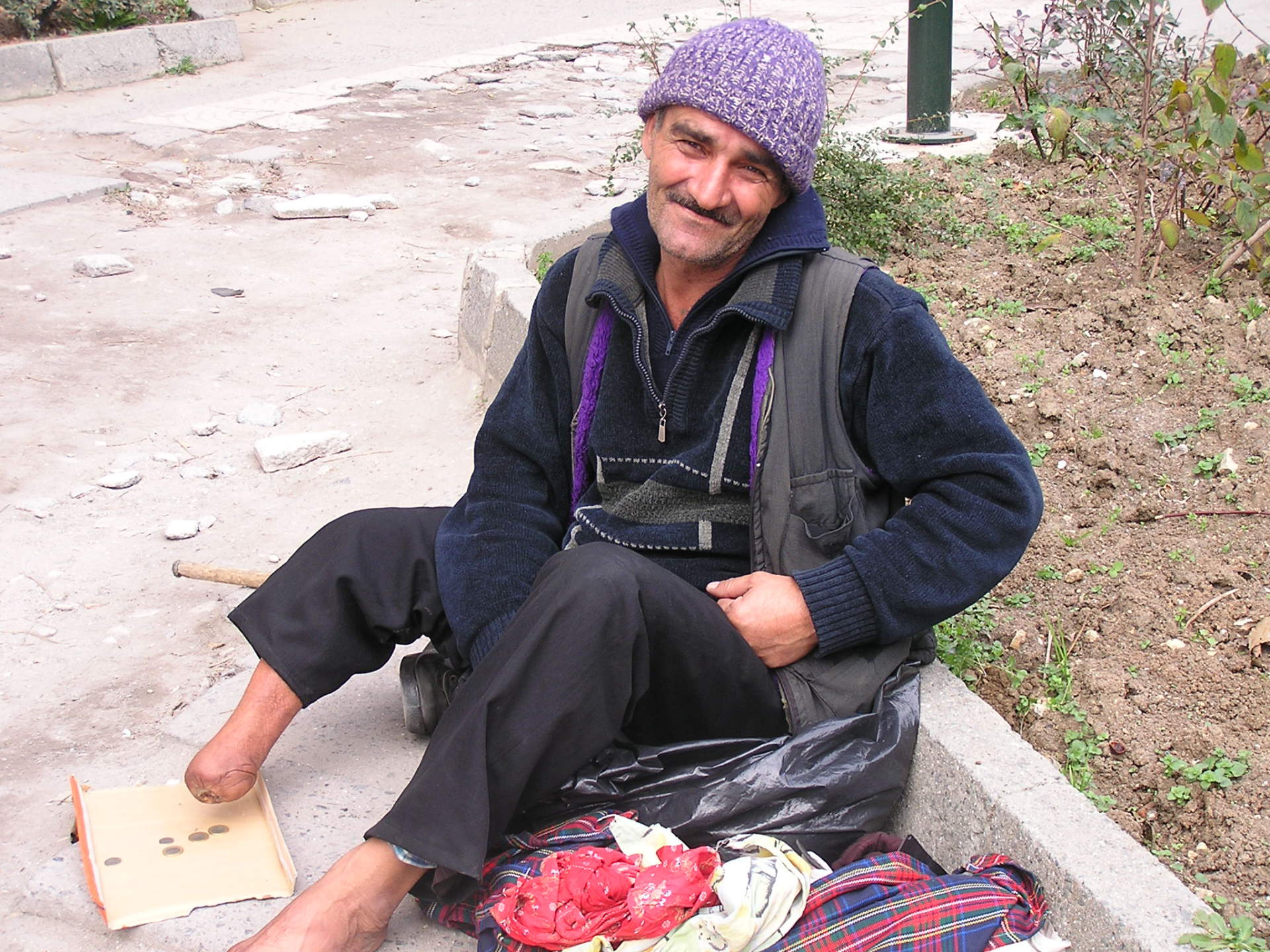 This sweet beggar was pleased to smile for a photo. Istanbul, Turkey: chapter 45, You must only to love them. http://mershon.wordpress.com