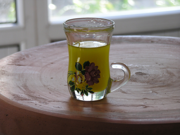"We ""taste tested"" fresh olive oil in a tea glass. Yahşibey, Turkey: chapter 48, You must only to love them. http://mershon.wordpress.com"