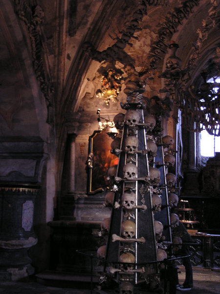 Another spine-tingling view in the Bone Church.Prague, Czech Republic: chapter 49, You must only to love them. http://mershon.wordpress.com