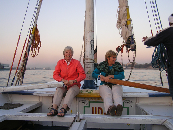 Dee and I took a turn at the mammoth oars. Nile River Valley, Egypt: chapter 50, You must only to love them. http://mershon.wordpress.com