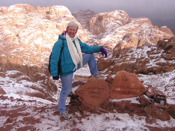 Proof that I did, indeed, climb Mount Sinai in the snow.Mount Sinai, Egypt: chapter 51, You must only to love them. http://mershon.wordpress.com