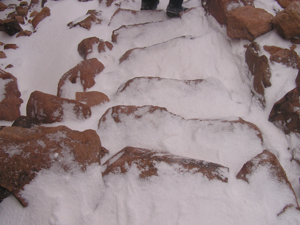 Sinai's snow-covered stone steps were a challenge at best. Mount Sinai, Egypt: chapter 51, You must only to love them. http://mershon.wordpress.com