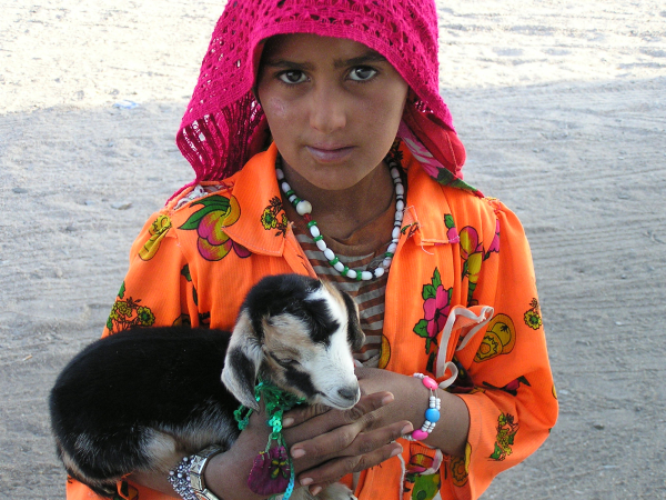 I was charmed by this Bedoin girl trying to sell her baby goat. Petra, Jordan: chapter 52, You must only to love them. http://mershon.wordpress.com