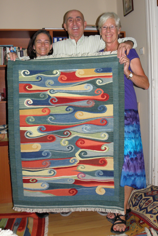 My friend Sally Nankivell and I pose with Musa and one of his creations. Istanbul, Turkey: chapter 53, You must only to love them. http://mershon.wordpress.com