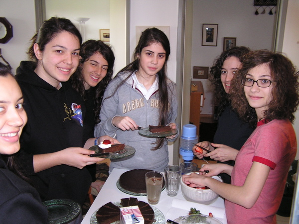 My girls helped serve the chocolate torte to the class. Istanbul, Turkey: chapter 54, You must only to love them. http://mershon.wordpress.com