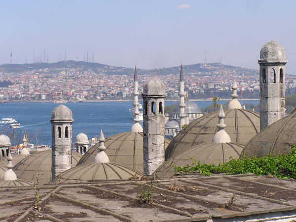 The view overlooking the Bosphorus and the Golden Horn from the Süleymaniye courtyard is one of the finest in Istanbul. Istanbul, Turkey: chapter 55, You must only to love them. http://mershon.wordpress.com