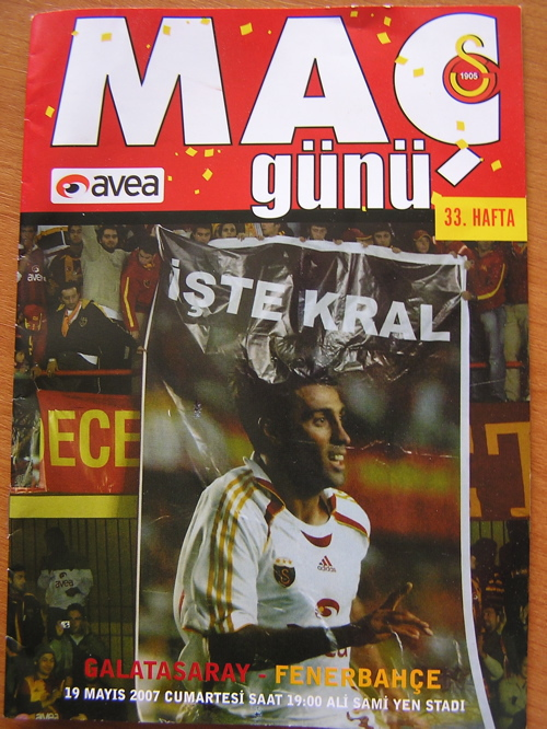 The Derby Match Program Istanbul, Turkey: chapter 57, You must only to love them. http://mershon.wordpress.com