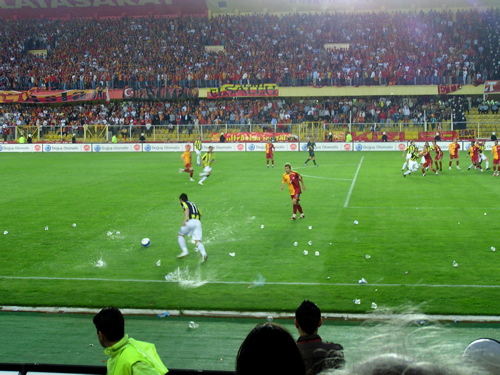 Plastic water containers explode on the soccer field. Istanbul, Turkey: chapter 57, You must only to love them. http://mershon.wordpress.com