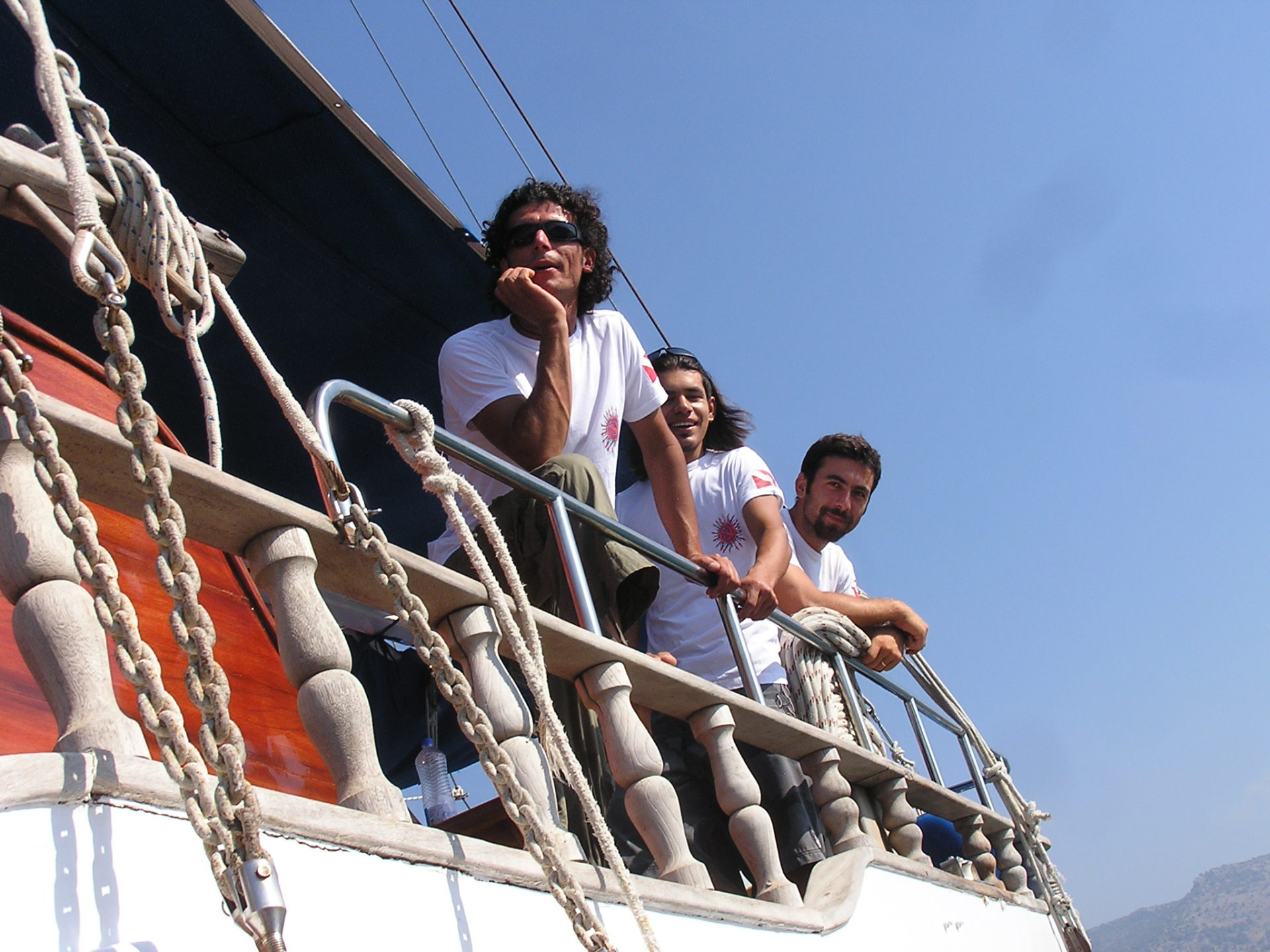 First Mate Orhan, Second Mate Söner, and Captain Atilla aboard the Sevi 5. Mediterranean Coast, Turkey: chapter 59, You must only to love them. http://mershon.wordpress.com