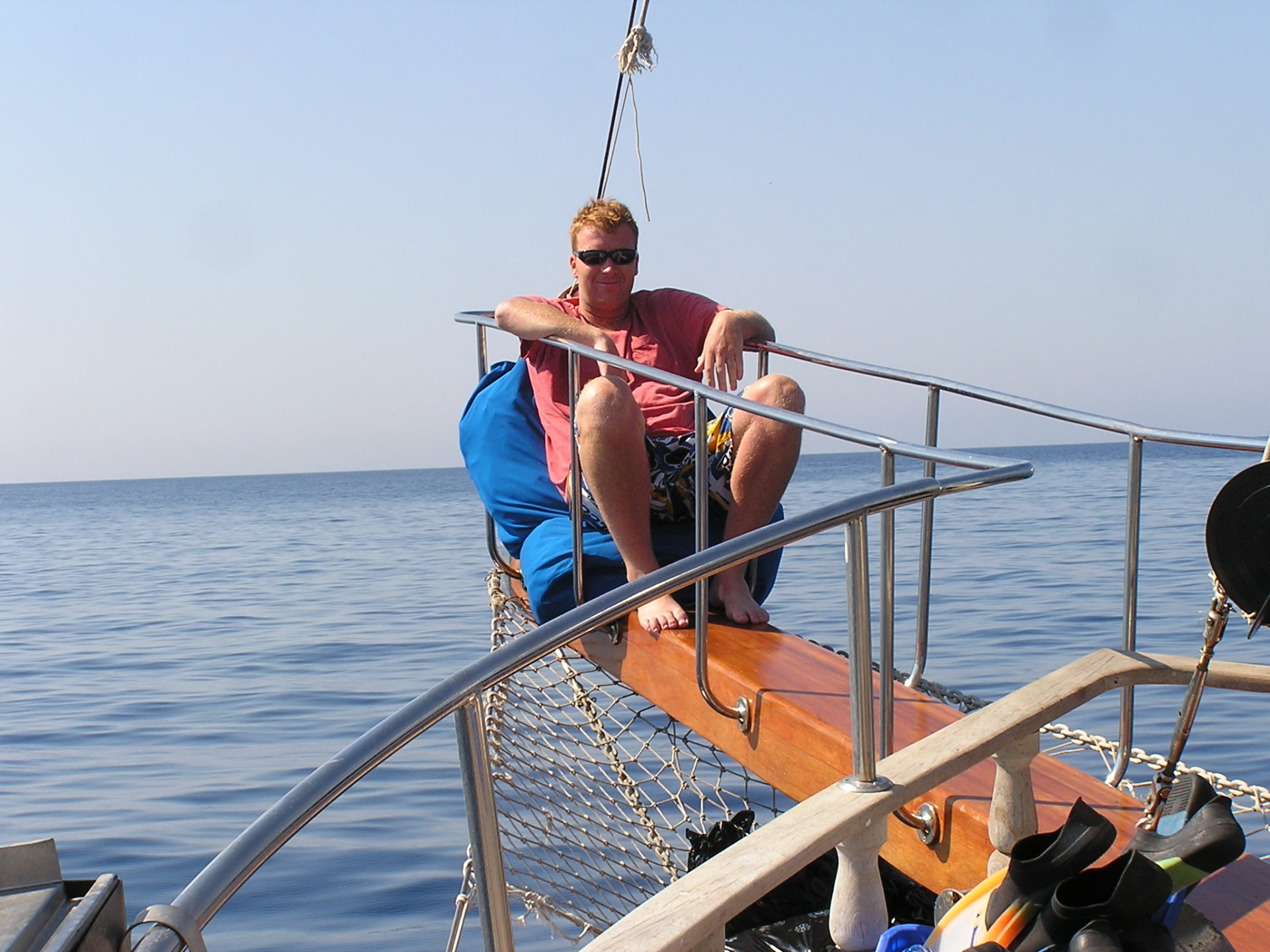 Dustin enjoyed the perch on the bow of our sailboat. Fetiye, Turkey: chapter 59, You must only to love them. http://mershon.wordpress.com