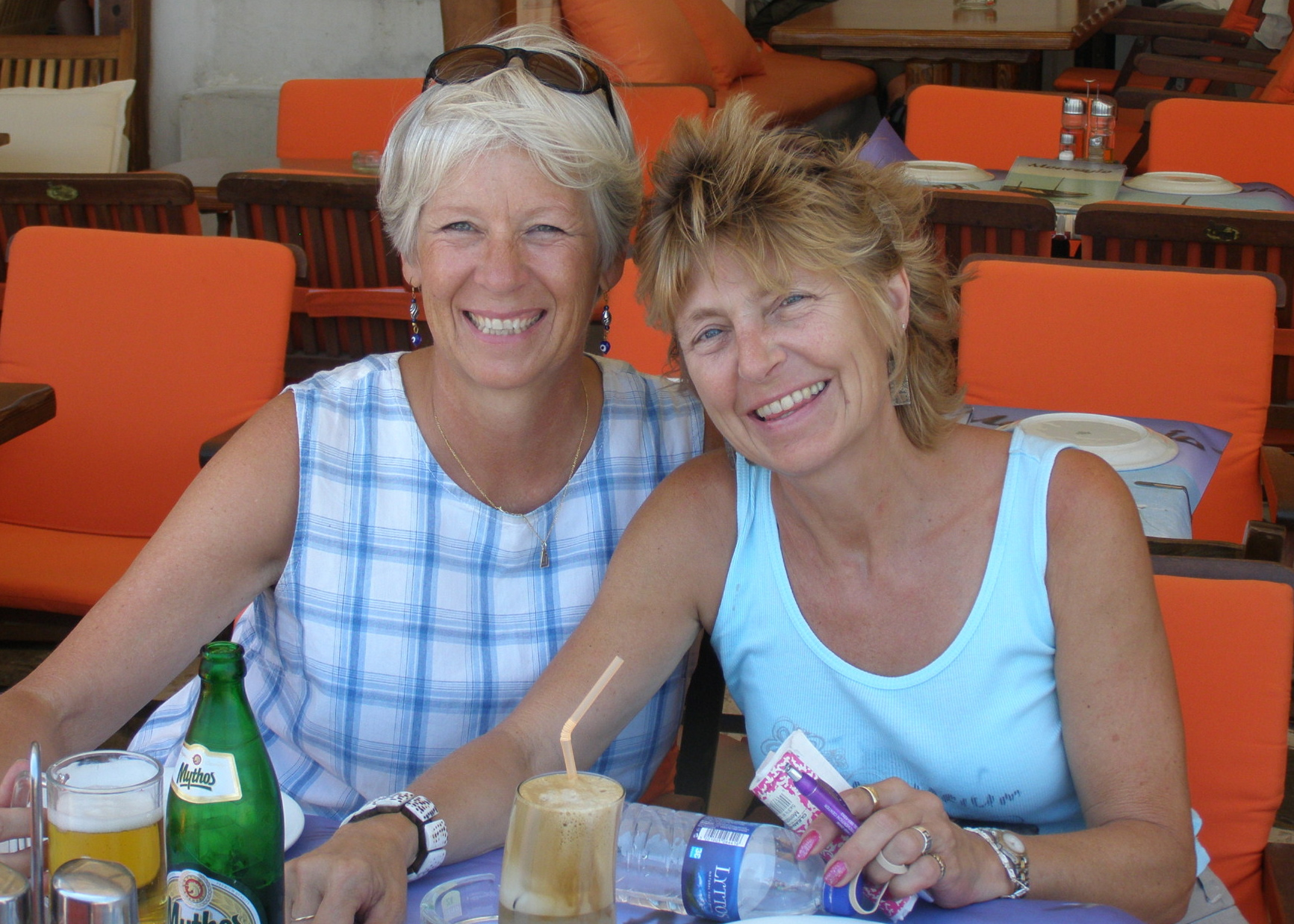 Ann Marie and Susie, happy as clams on Mykenos. Mykenos, Greece: Chapter 61, You must only to love them. http://mershon.wordpress.com