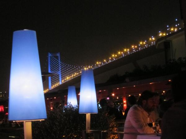 The Reina offers outdoor seating and dancing  beneath the Bosphorus bridge.Istanbul, Turkey: chapter 65, You must only to love them. http://mershon.wordpress.com