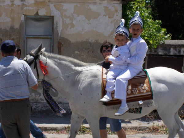 Two little soldiers parade through town as a part of their circumcision celebration. Little do they know what lies ahead. Gallipoli Peninsula, Turkey: chapter 69, You must only to love them. http://mershon.wordpress.com