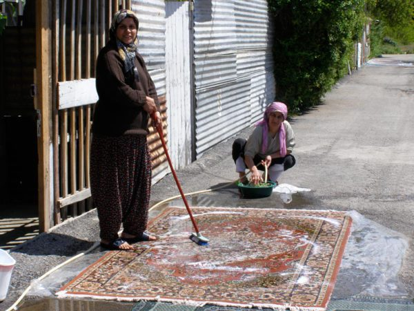This Tukish woman left her task of scrubbing her carpet  to prepare Turkish coffee for Stella and me. Malatya, Turkey: chapter 69, You must only to love them. http://mershon.wordpress.com