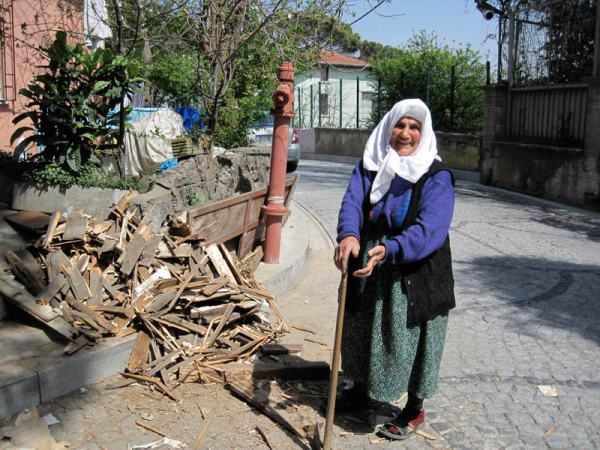My sweet neighbor Hediye (age 80) was in charge of gathering and splitting wood  for their stove. She kept a formidable woodpile. Istanbul, Turkey: chapter 70, You must only to love them. http://mershon.wordpress.com