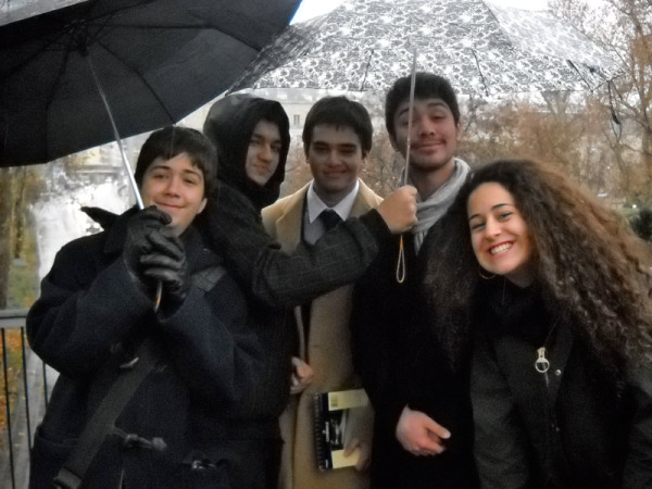 My Robert College debaters pose on our rainy walking tour of Stuttgart. Stuttgart, Germany: chapter 73, You must only to love them. http://mershon.wordpress.com