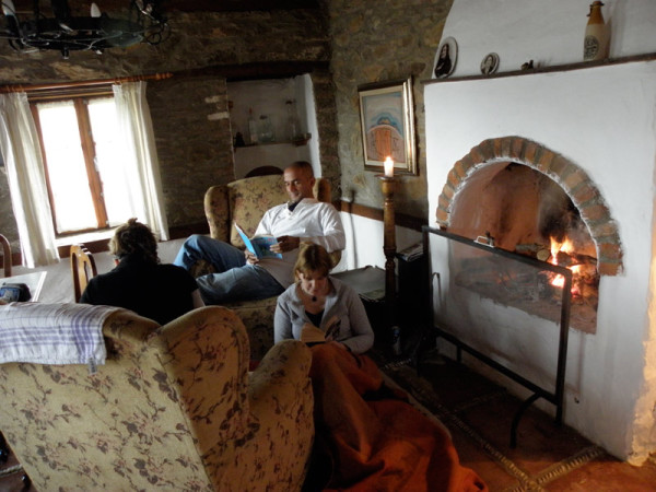 We English teachers spent our rainy Sunday reading by the fire in the charming Kerevetli Ev. Şirince, Turkey: chapter 75, You must only to love them. http://mershon.wordpress.com