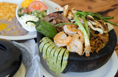 molcajete, mexican food, idaho falls mexican