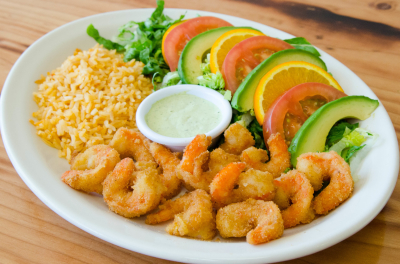 breaded shrimp, idaho falls mexican food, mexican rice