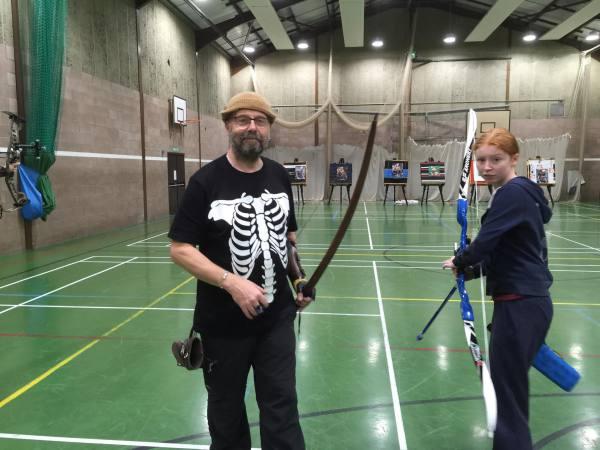 indoor archery season at Shropshire archery club in Cleobury Mortimer.