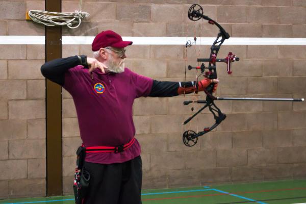 Shropshire archery club in Cleobury Mortimer.