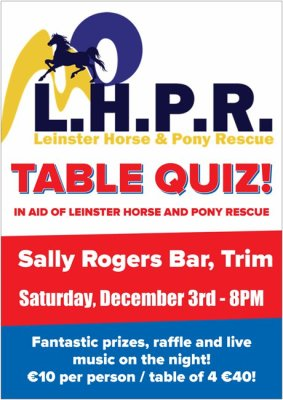 TABLE QUIZ IN AID OF L.H.P.R, 3rd December